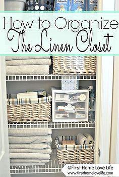 linen closet organization and a peek at my closet pharmacy, cleaning organization, closets pantries, design d cor