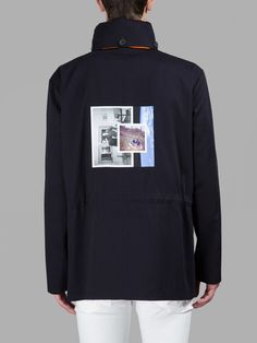 RAF SIMONS, JACKET WITH BACK PATCH (Navy)