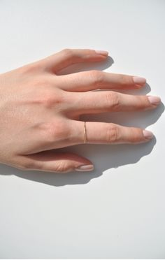 Saskia Diez Superfine Ring, Gold - ANAISE