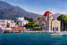 Grecia.  Pantelis Zografos es un talentoso artista Griego