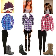 """blouses,combat boots and leggings"" by domonique-668 on Polyvore"