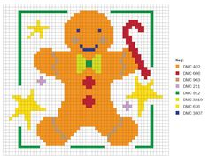 free cross stitch chart gingerbread man
