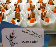Served with fun! Melted Olaf!