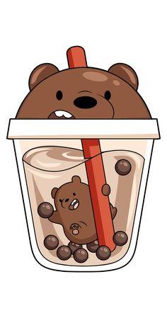 Cute Panda Wallpaper, Cartoon Wallpaper Iphone, Bear Wallpaper, Cute Disney Wallpaper, Cute Animal Drawings Kawaii, Cute Little Drawings, Cute Cartoon Drawings, Cute Bear Drawings, We Bare Bears Wallpapers