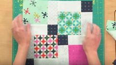 Woman Sews 9 Squares In A Block, Slices Down The Middle Making Disappearing Blocks!   DIY Joy Projects and Crafts Ideas