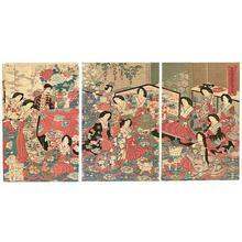 豊原周延: Tea Party - Meiji Emperor and Empress — 高貴茶の湯の景 Koki Chanoyu no En - Japanese Art Open Database