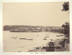 Manly in the Northern Beaches region of Sydney in Time In Sydney, Avalon Beach, Manly Beach, North Shore, Aerial View, Historical Photos, Old Photos, Beaches, Past