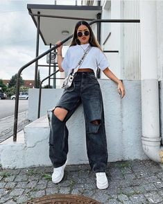 Outfits Aesthetic Discover 2020 Women Jeans Skinny Jeans For Women Camo Cargo Pants Womens Camo Pants Women 2020 Women Jeans Skinny Jeans For Women Camo Cargo Pants Womens Camo P rosewew Cute Casual Outfits, Retro Outfits, Vintage Outfits, Edgy Outfits, Vintage Jeans, Look Fashion, 90s Fashion, Fashion Outfits, Fashion Design