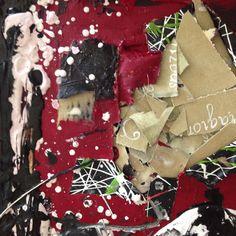 Broken strings · Mixed media on canvas board · 50 x 50 cm · by arte2due