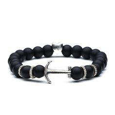 We offer a selection of the latest trendy and fashion bracelets at amazing prices ! Our bracelet are mostly made with beads: The smooth ones gives a nice luxury style and the Lava beads if you're more rock in roll style! Viking Bracelet, Kings Crown, Fashion Bracelets, Anchor, Jewelry Watches, Luxury Fashion, Sea, Outfit, Style