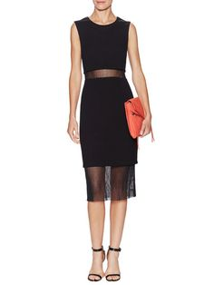 Milano Cropped Mesh Overlay Dress by BAILEY 44 at Gilt