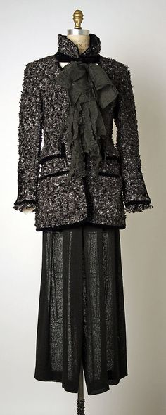 Suit  House of Chanel  (French, founded 1913).  No date given, 70's?
