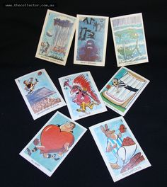 Group of Sunnicrust Wegs Footy Funnies trading cards