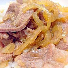 カルビ焼肉用の肉で作ったが、お肉が柔らかくなって美味しかった。 - 2件のもぐもぐ - 牛丼~吉野家風~☆ by taka_jam by ponnao