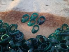 Horn Ring, Amber Ring, Emerald Ring