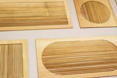 New Window × Lex Pott - Matchmaking and much more: diptych. Zachtere delen van het hout worden dmv zandstralen weggeschuurd, het hardere winterhout blijft over, een prachtig fragiel framewerk van de natuurlijke houtstuctuur.