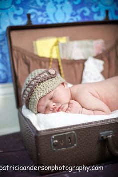 Newsboy Baby Hat Crochet Beanie Buttons by iaFlowerPower on Etsy, $22.00