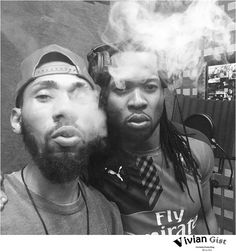 Singer Phyno And Flavour In Heavy Smoke (photo) - Celebrities - Nigeria
