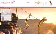 VP Summer Camp sigue inspirando a nuestros webdesigners, que nos ofrecen un nuevo decorado de lo más primitivo  #venteprivee #VPSummerCamp #webdesign #tirolina