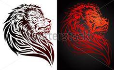 Löwe Tribal/Tattoo style