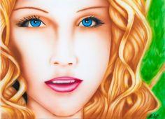 airbrush portrait of Aliona  visit www.luckyart.it