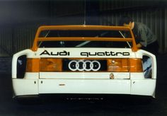Was the Audi 90 quattro IMSA GTO the widest race car of its time? Maybe... here it is at Donington Park's Tourist Trophy 1997