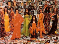 """Tropicalia fashion. The Rhodia collection from the 1960's by Tomoshigue Kusuno, with patterns by José Carlos Marques and design by Alceu Penna, from """"Tropicália"""" at the Bronx Museum of the Arts."""