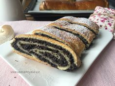 Kynutý makový závin Strudel, Sweet Recipes, Tart, Cheesecake, Food And Drink, Baking, Ethnic Recipes, Breads, Cakes