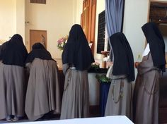 Funeral mass of a sister. Poor Clare Monastery, Kiryu, Japan.