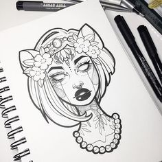 Another #inktober sketch • might color test her for a pin design too • thanks for all the love on my latest YouTube video guys! Link on my bio for anyone who wants to subscribe to my channel ❤️✨ #graphicartery #art #artist #instaart #sketch #sketchbook #drawing #ink #tattoo #occult #witch #illustration #instaartist #artoftheday #myart #tattoos #inktober2016