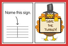 """""""save the turkey"""" - review music symbols and guide notes"""