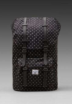 HERSCHEL SUPPLY CO. Little America #PolkaDot in Black/ White #Backpack