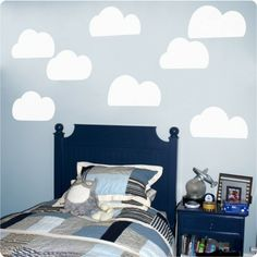 Clouds in the Antonis home, on Dulux painted walls