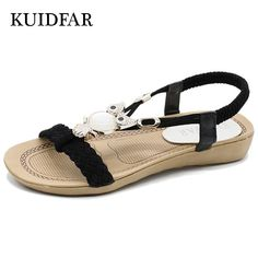 2d4fd910913093 2017 Fashion Women Sandals Summer Gladiator Shoes Ladies Bohemia Shoes  Woman Comfort Beach Shoes Flat Sandals Red For Women Size Please choose  size ...