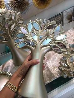 figura árbol en cerámica color champan en www.virginia-esber.es