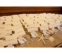 Seating card setup for your Maine beach wedding.