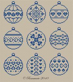 Full pattern on site Xmas Cross Stitch, Cross Stitch Christmas Ornaments, Cross Stitch Needles, Christmas Embroidery, Christmas Cross, Cross Stitch Charts, Cross Stitch Designs, Cross Stitching, Cross Stitch Embroidery