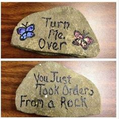 I'm totally going to paint on rocks!! Then I'm going to leave them random places.