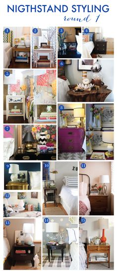Nightstand Styling Contest. My 30 favorites plus the winners announced on the blog today.