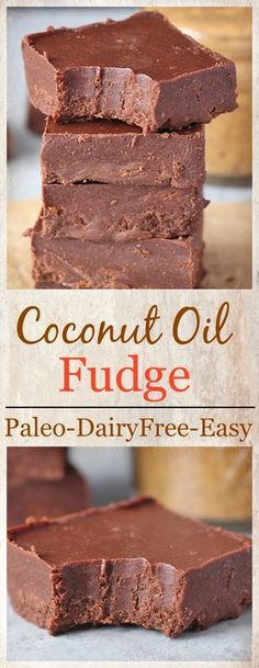 Paleo Coconut Oil Fudge- 5 ingredients and 5 minutes is all that is need for this delicious fudge! Dairy free, vegan, gluten free and so good! #cookiebarrecipescoconutoil