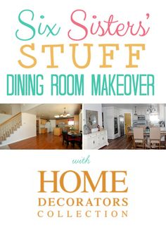 Six Sisters' Stuff Dining Room Makeover with @Home Decorators Collection! Come see all the details to our gorgeous dining room makeover! #sixsistersstuff