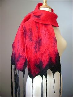 Art Threads: Friday Inspiration - Woven and Felted Scarves