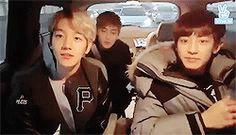 looking at Baekhyun is way more important than looking at the camera p2