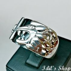 Men's Ring Turkish Ottoman Style Jewelry 925 Sterling by IdilsShop, $60.00