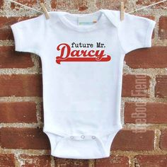 Pride and Prejudice Onesie | 33 Perfect Gifts For Book-Loving Babies| I need this for my future son!