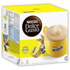 Nescafé Dolce Gusto Nesquik 16 Kapseln Getränkezubereitung mit Vollmilchpulver und fettarmem Kakao. Exklusiv für Nescafé Dolce Gusto.