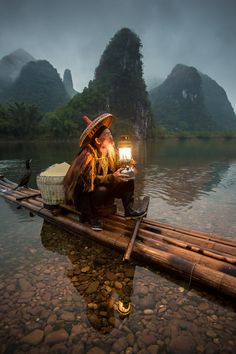 Chinese fisherman by Joel Santos