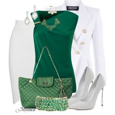 Rocking the green and can mix well with other colors too