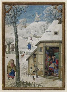 January 1 - Hennessy Book of Hours - miniaturist: Simon Benning - Flanders, 1530-1540 - Bruxelles, Bibliothèque royale Albert Ier, ms. II 158