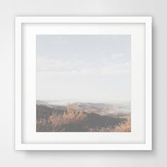 Mountain Photography Mountains Blue Sky Sky by MelindaWoodDesigns #Mountainprints #homedecor